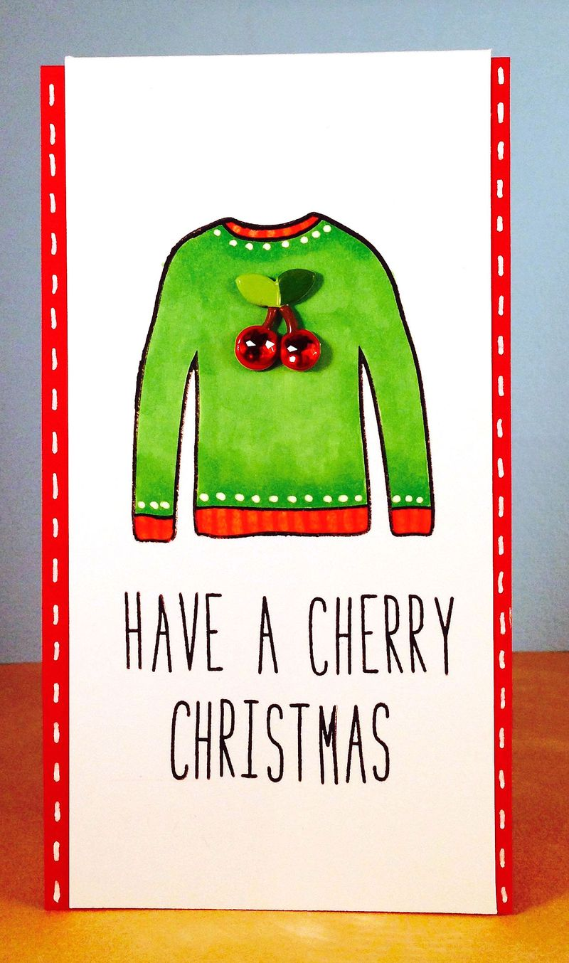 Cherry sweater card 4
