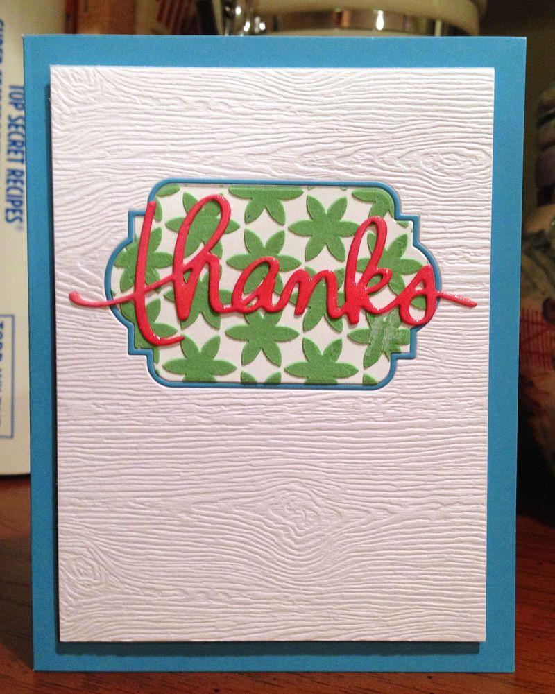 Textured thanks card 1