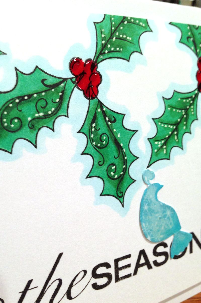 Tis the season card close up
