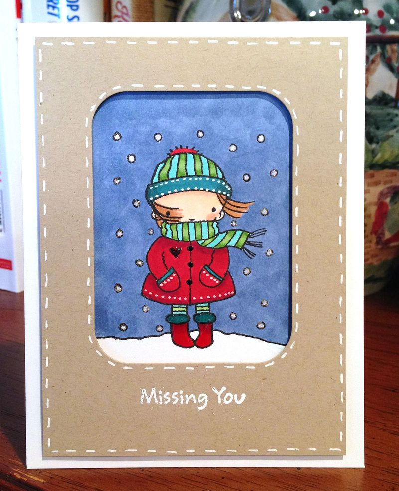 Flurry of love missing you card