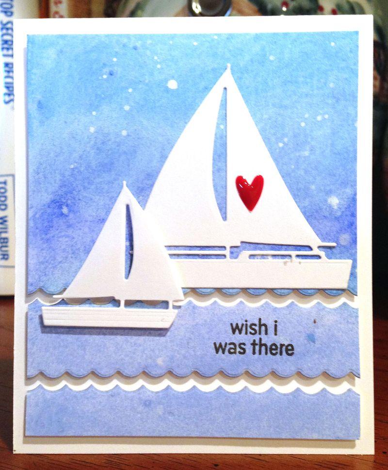 I wish I was there sailboat card