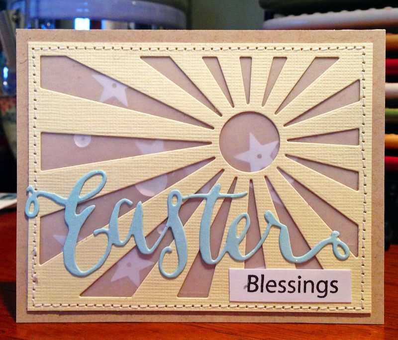 Easter rays card