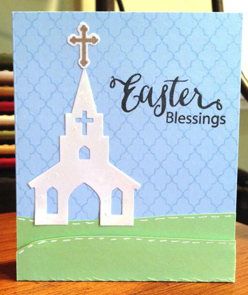 Easter blessings church card
