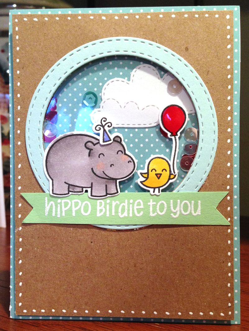 Lawn Fawn 5th birthday blog hop card