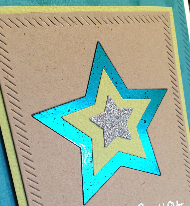 Excited for you foiled star card close up2