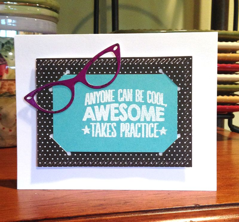 Awesome glasses card for Audrey