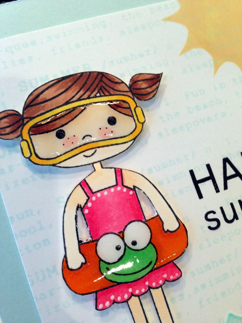 Happy Summer card close up