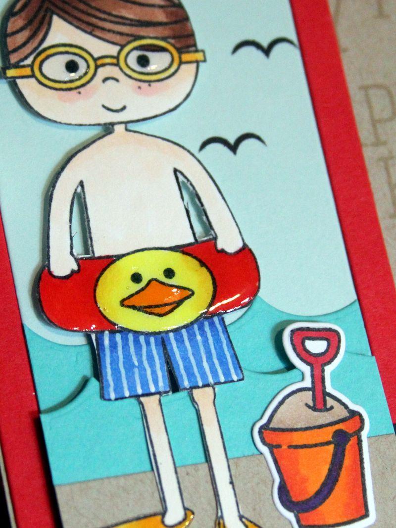Happy Day boy card close up