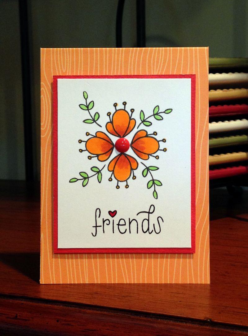 Friends Hello Friends card