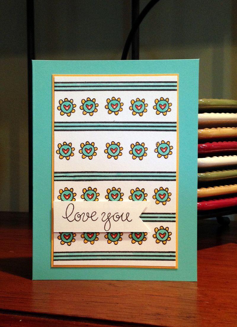 Love you STAMPtember card