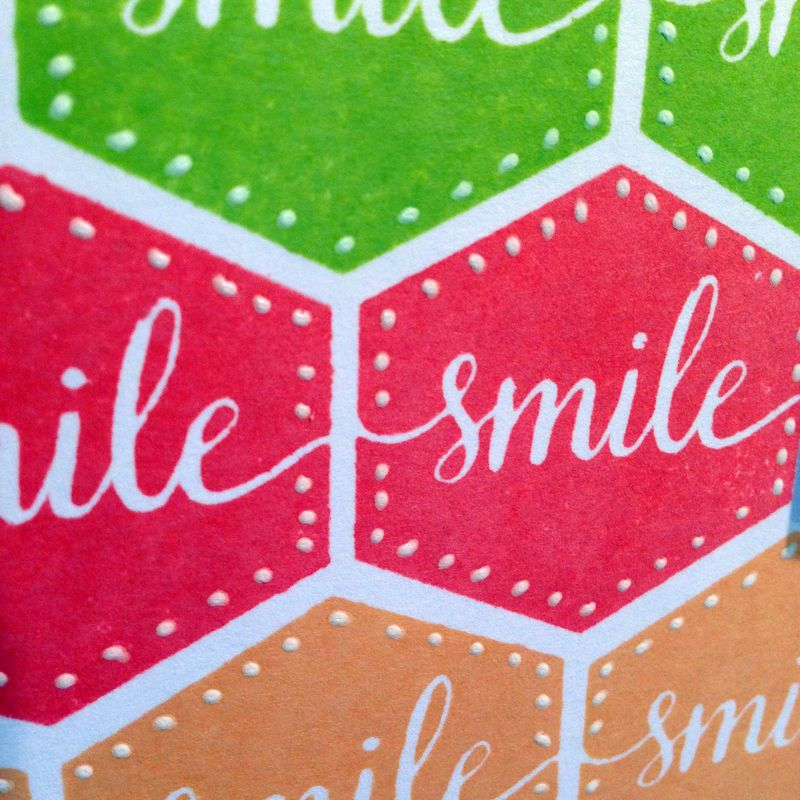 Smile hexagons stamptember card close up