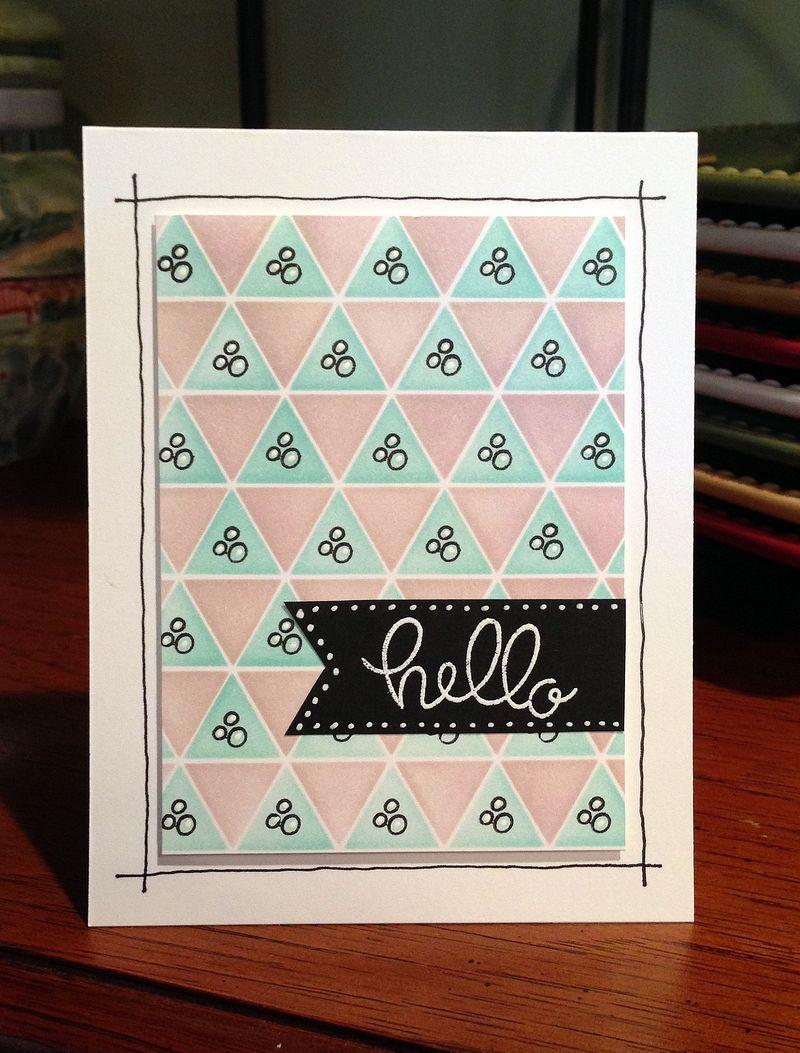 Hello triangles card2