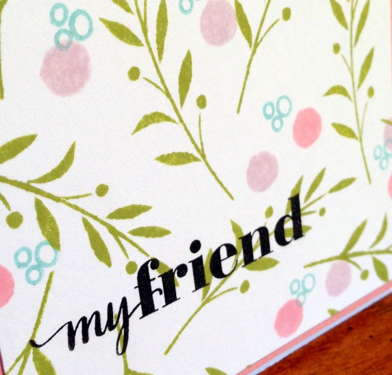 My friend card close up