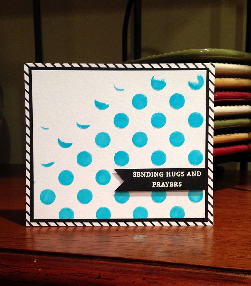 Prayers blue dots card