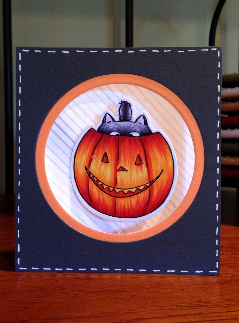 Pumpkin spinner card