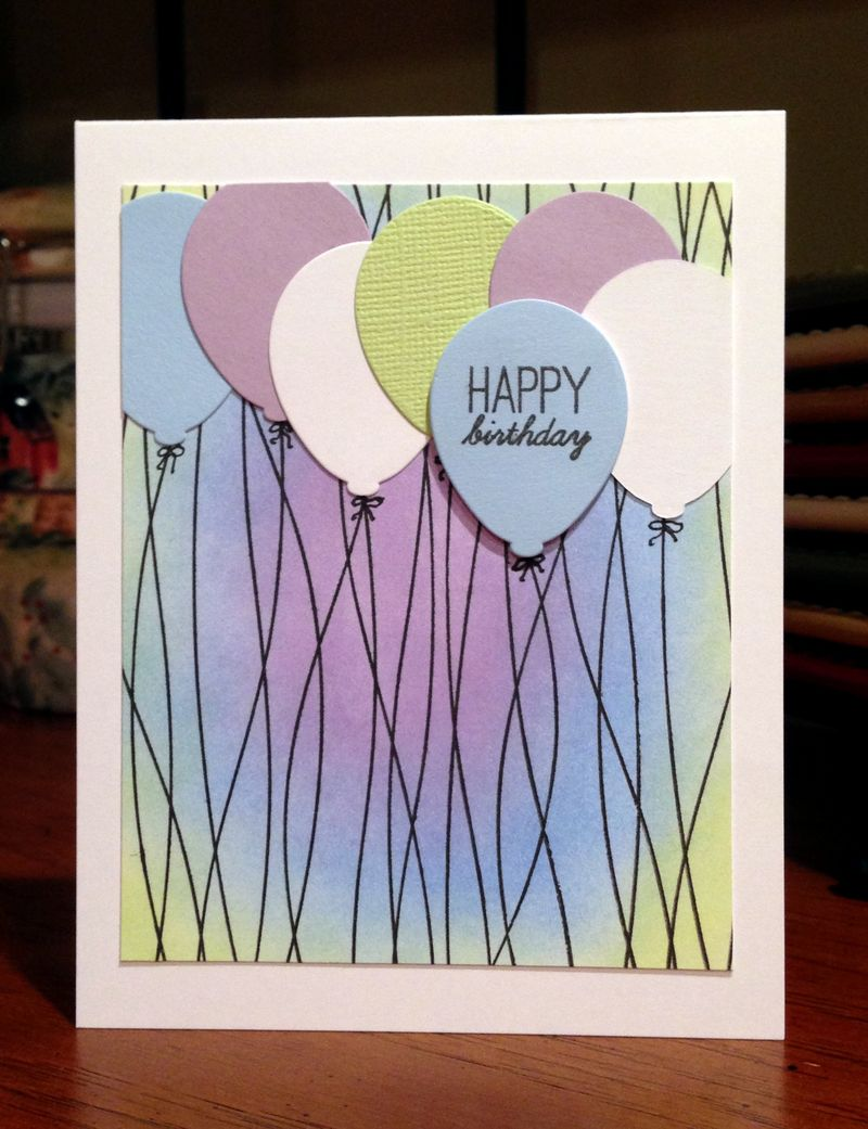 Balloon strings birthday card