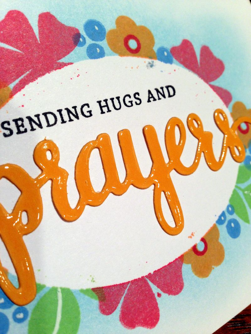 Prayers card drive card close up