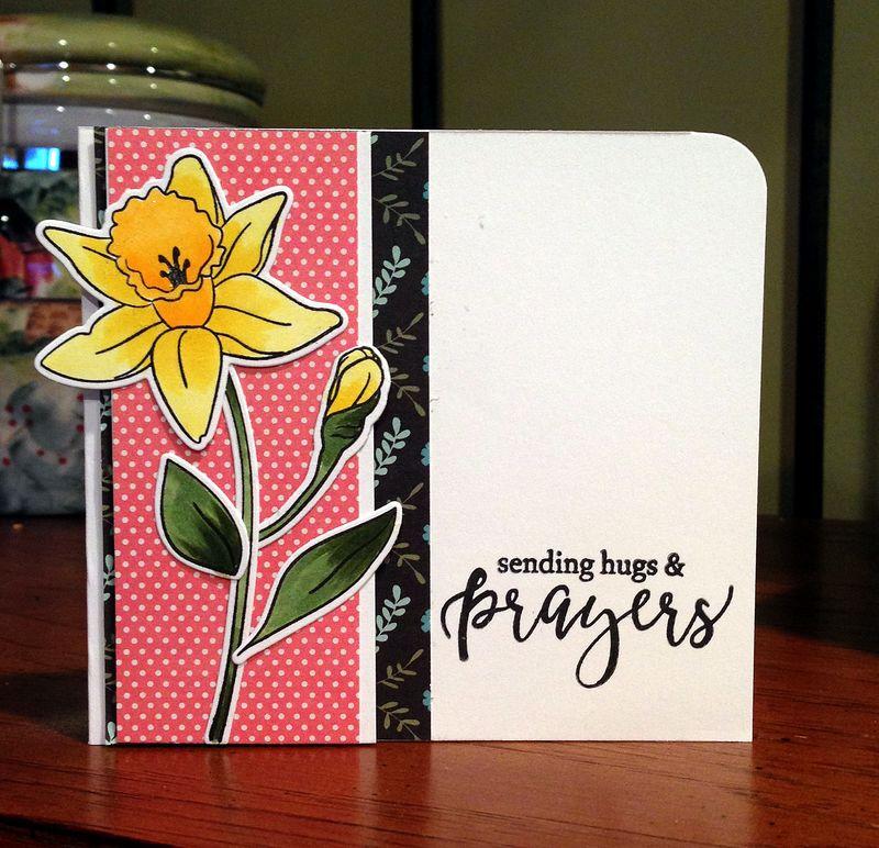 SSS sending prayers flower card