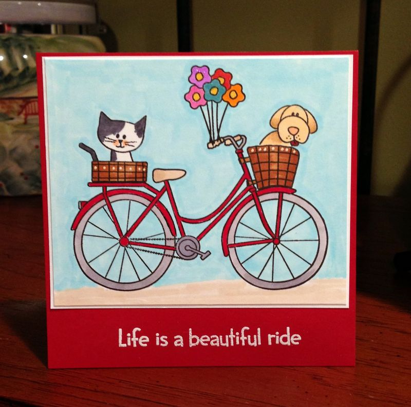 Beautiful ride bike card