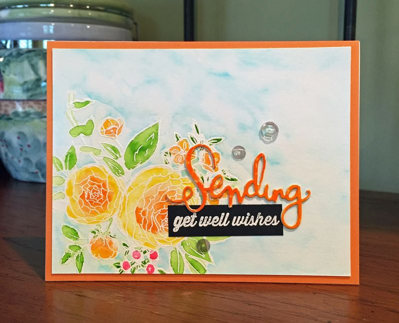 Sending get well wishes card