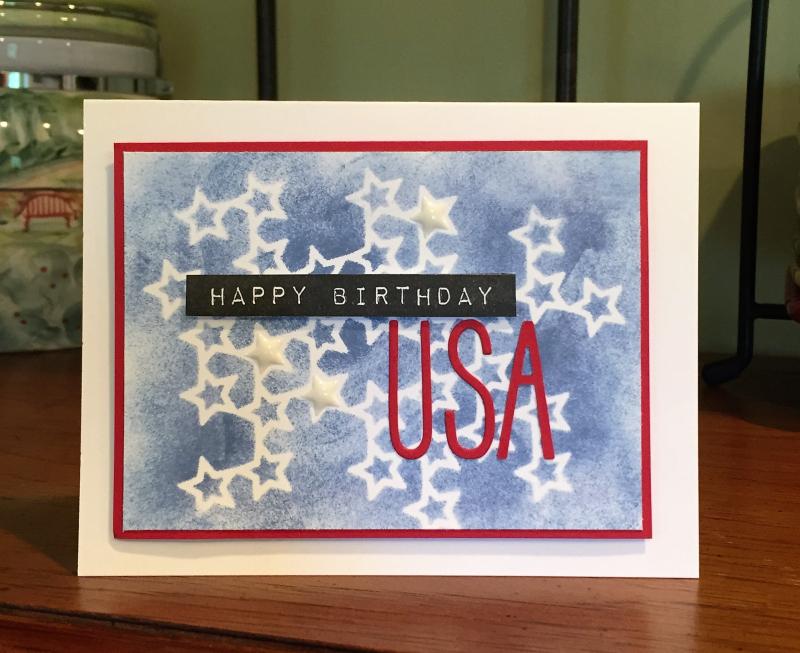 Happy Birthday USA card