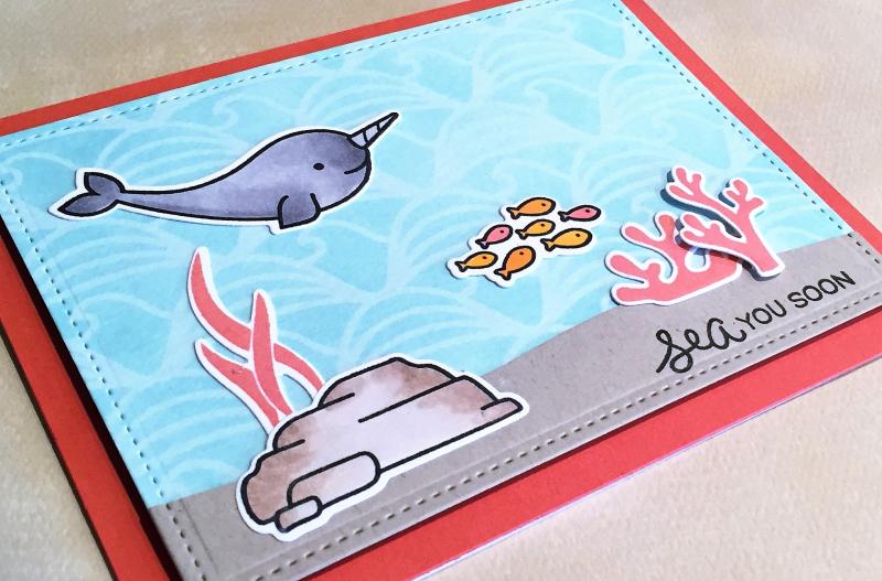 Sea you soon card close up