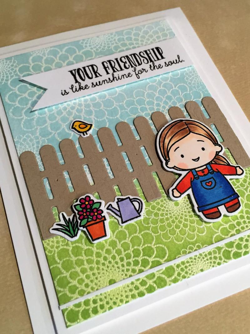 Garden buddies card close up