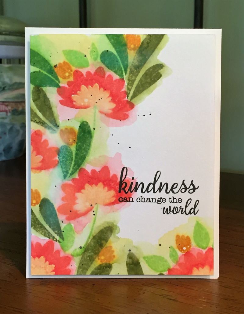 Kindness watercolor card