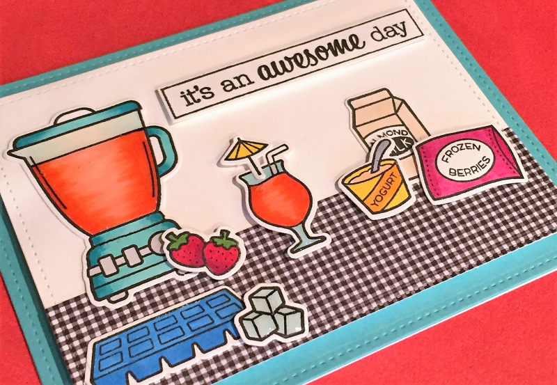 Awesome day smoothie card close up 1