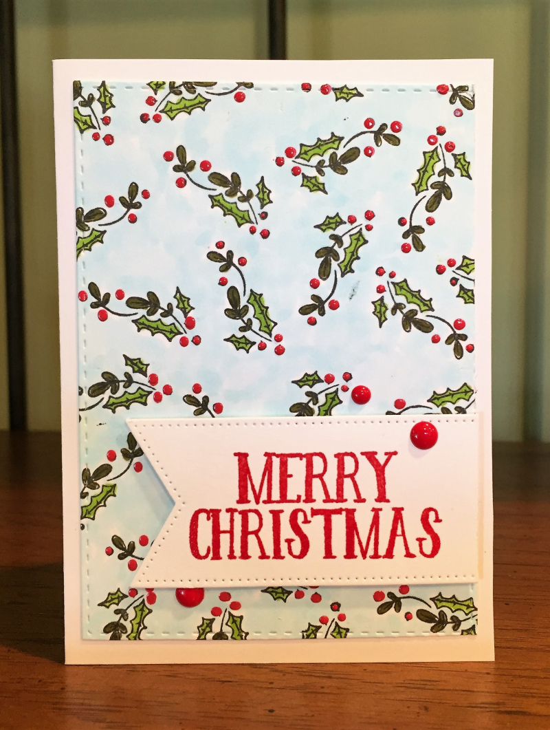 Stamptember 2016 1 holly background card