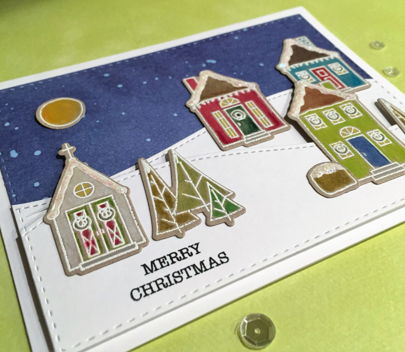 Wplus9 Houses Christmas card