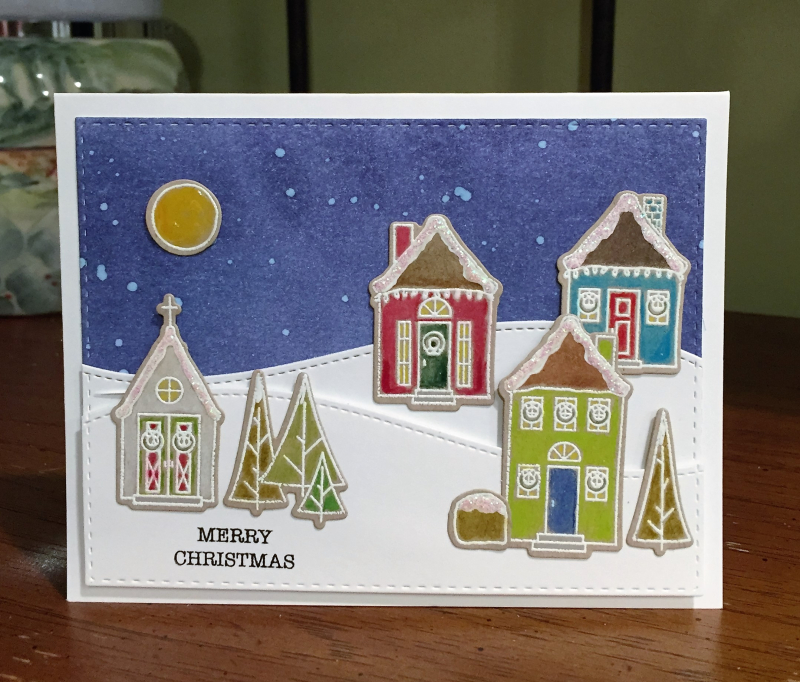 Wplus9 Houses christmas card standing