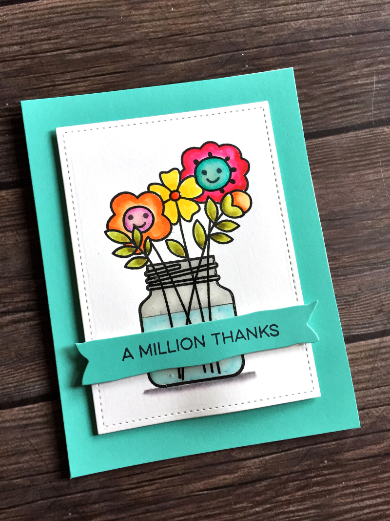 PS bouquet thank you card