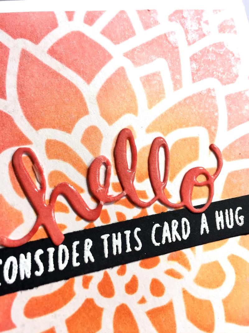 Consider this card a hug card close up