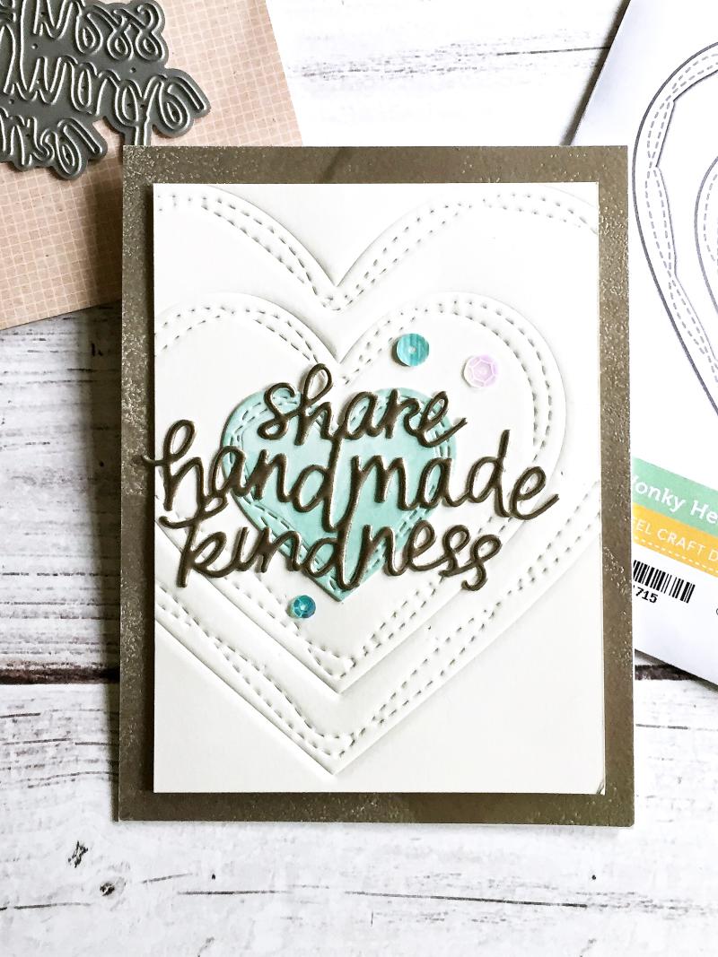 Share Handmade Cards heart card