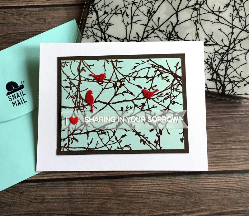 Red bird sympathy carde