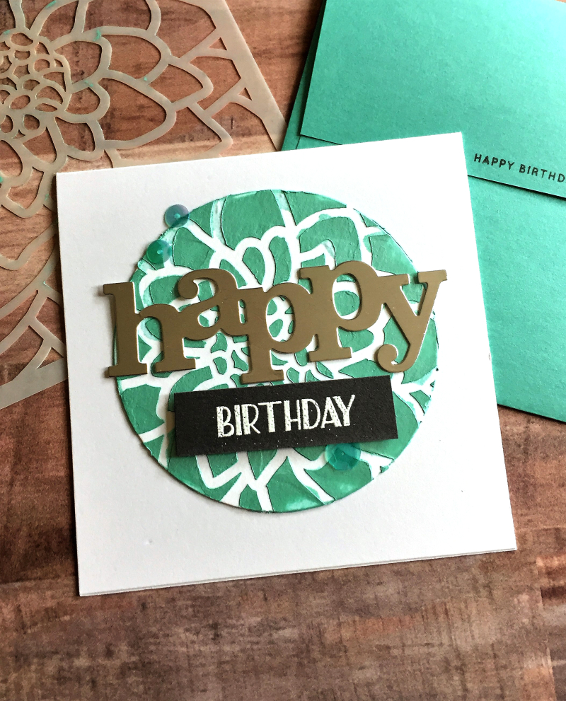 Happy Birthday circle card
