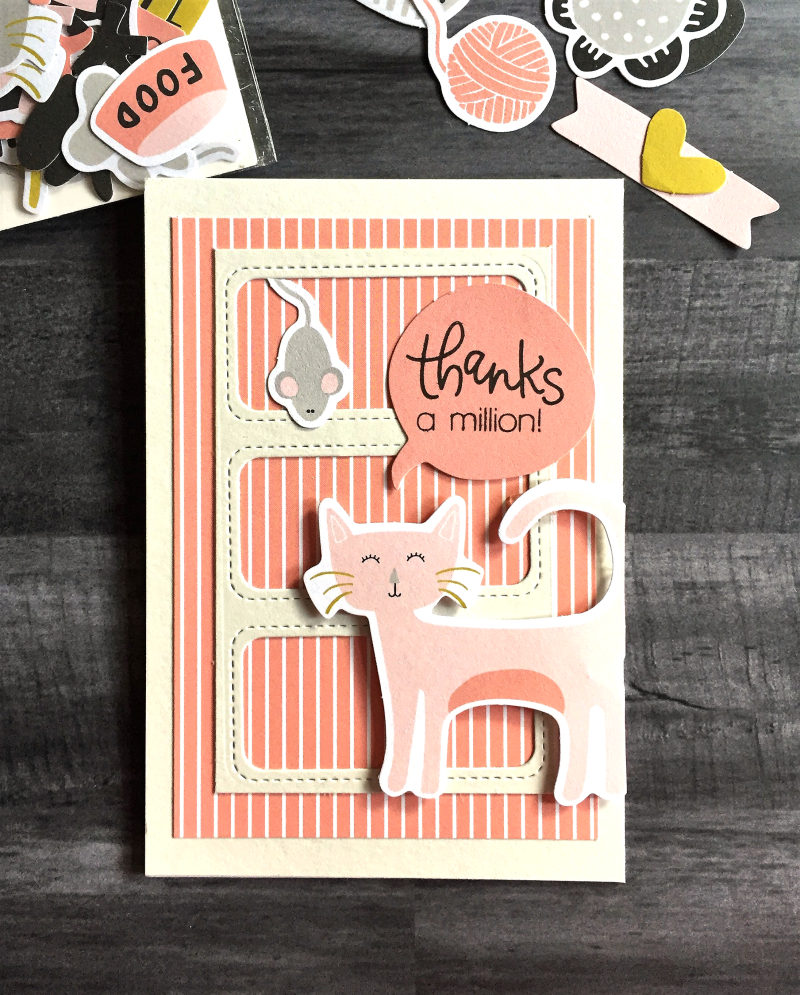 Thanks Pink kitty card