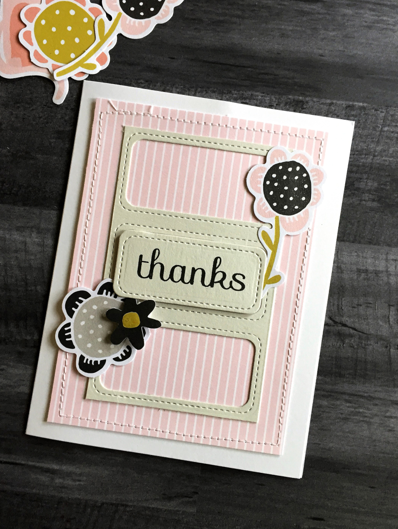 Flower die cut card
