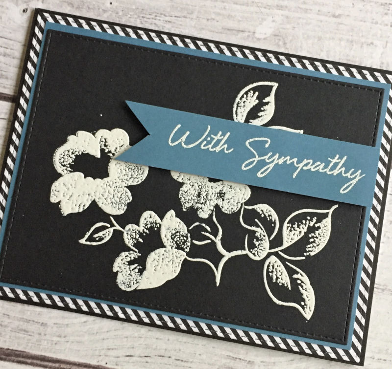 Black and white sympathy card