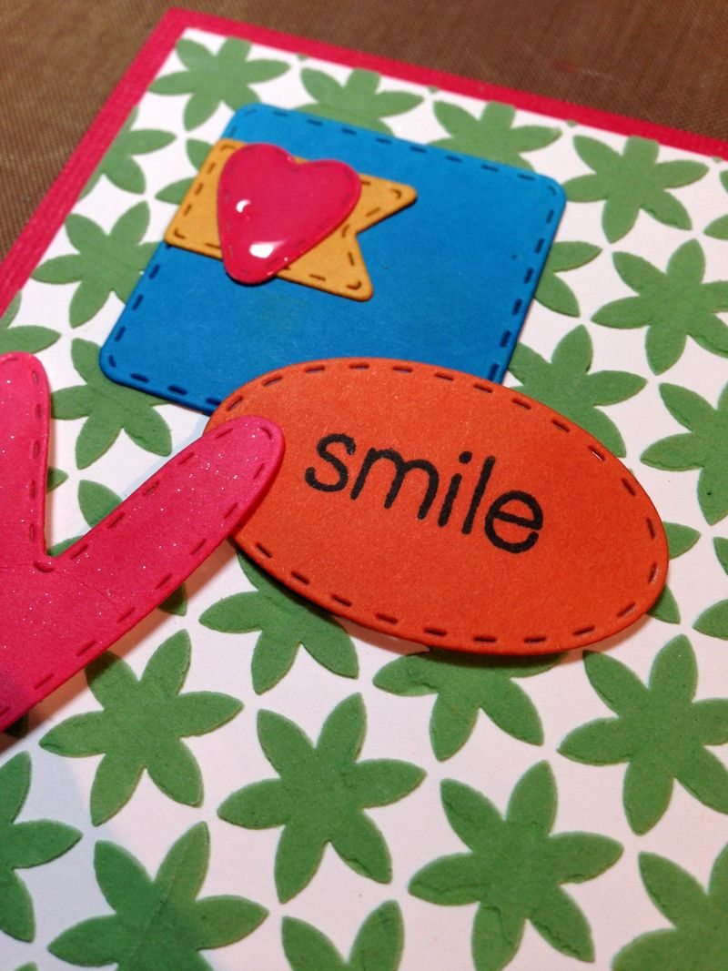 Smile texture card close up