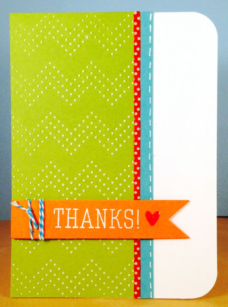 Sorority thanks card