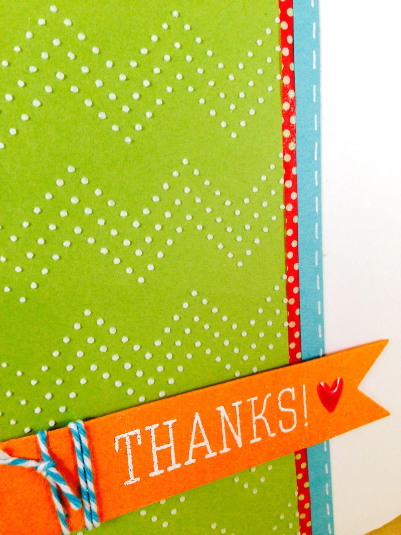 Sorority thanks card close up