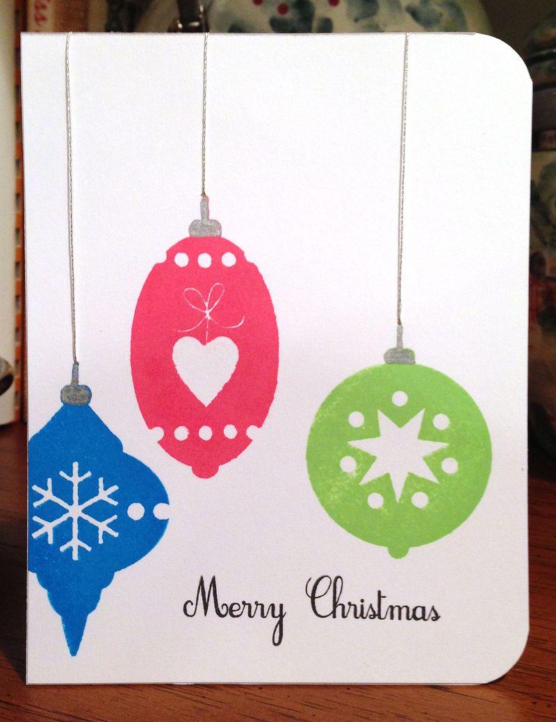 Mod ornament card