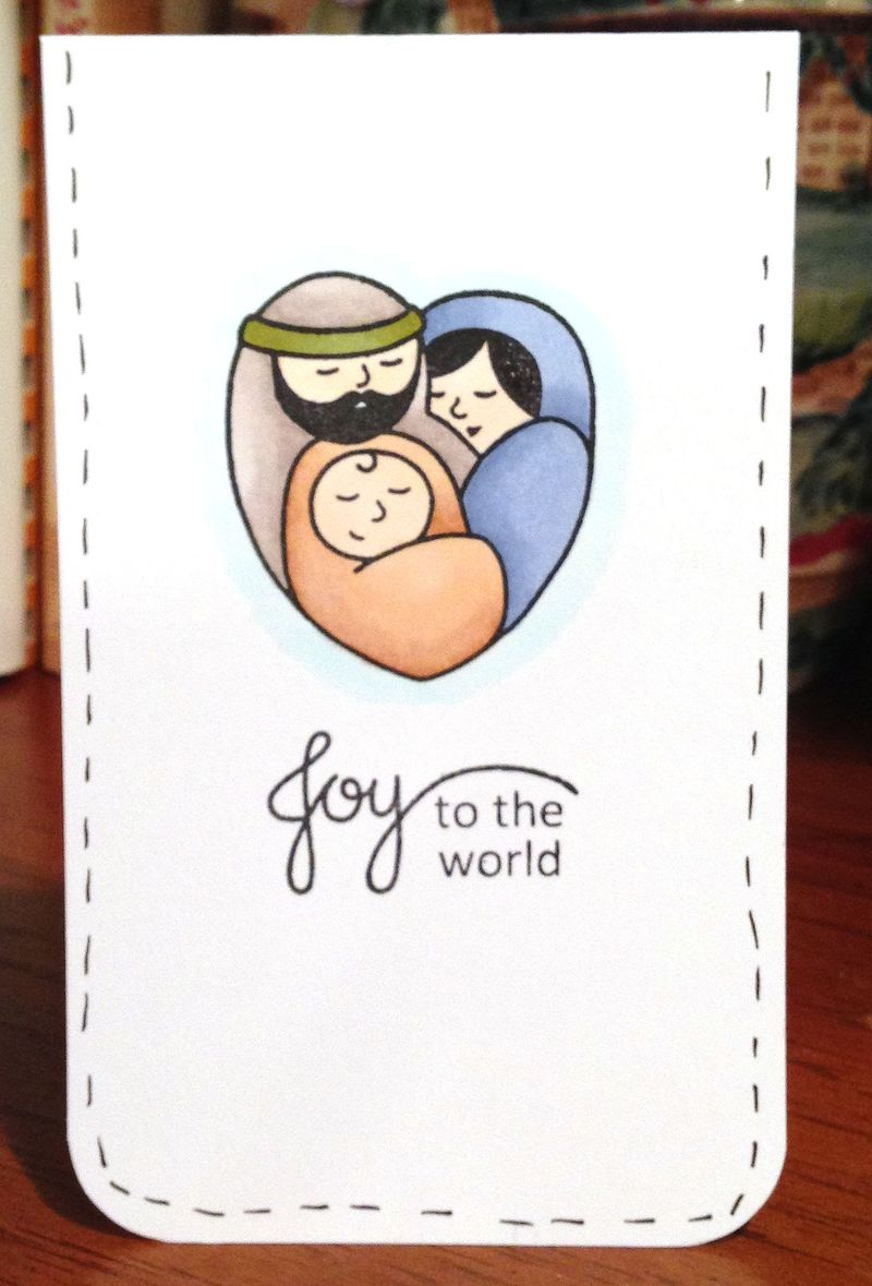 PS Blessed Christmas nativity card