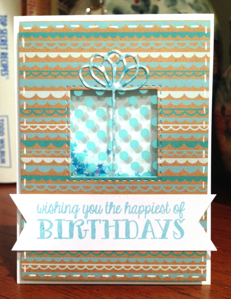 Happiest of Birthdays shaker card