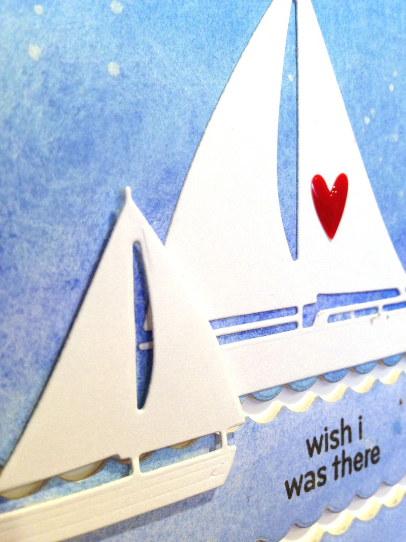 I wish I was there sailboat card close up