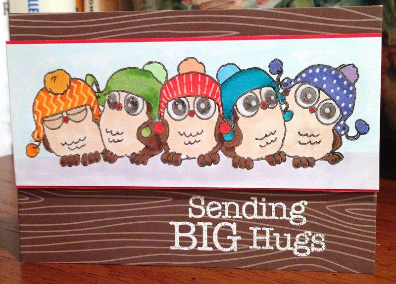 Sending Hugs owl card