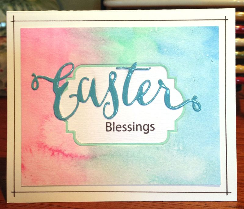 Easter blessings watercolor card
