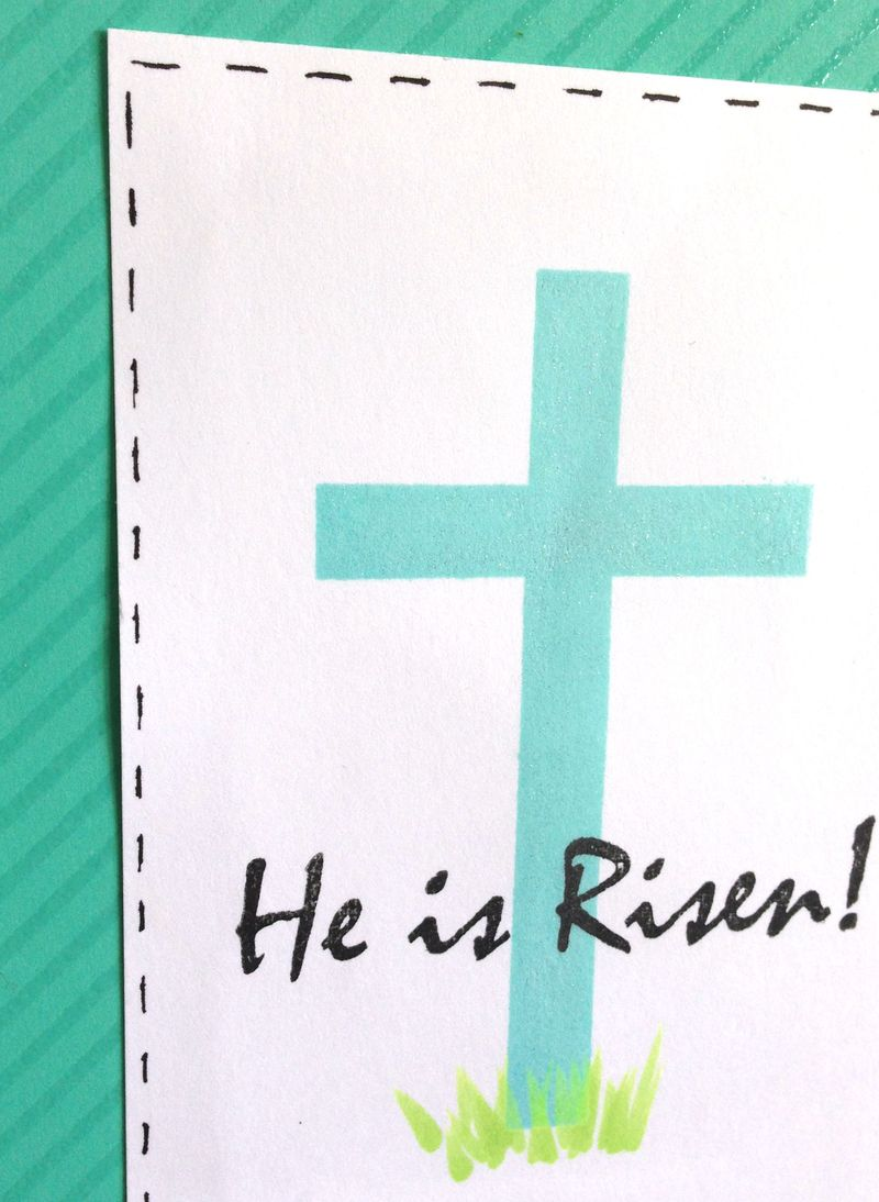 He Is Risen card close up